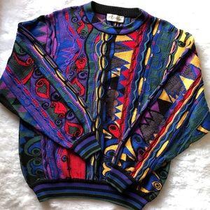 Vintage 90s Streetwear Textured Cotton Sweater